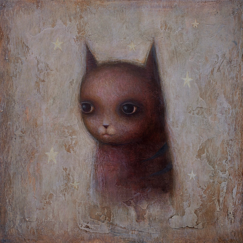 Paul Barnes - Portrait of a Cat with Stars