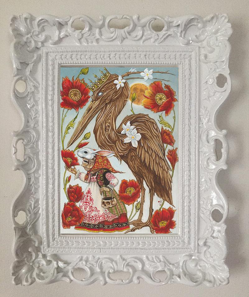 Joe Vollan - The Oleander Heron (Framed)