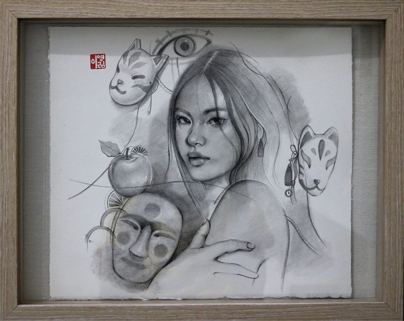 Young Lim Lee - Mask (Framed - Front)