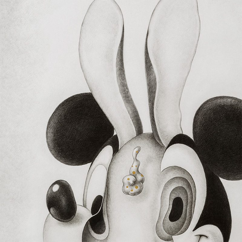 Alice Lin - Mickey Mouse and Rabbit #1 (Detail 1)