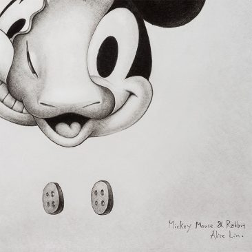 Alice Lin - Mickey Mouse and Rabbit #2 (Detail 2)