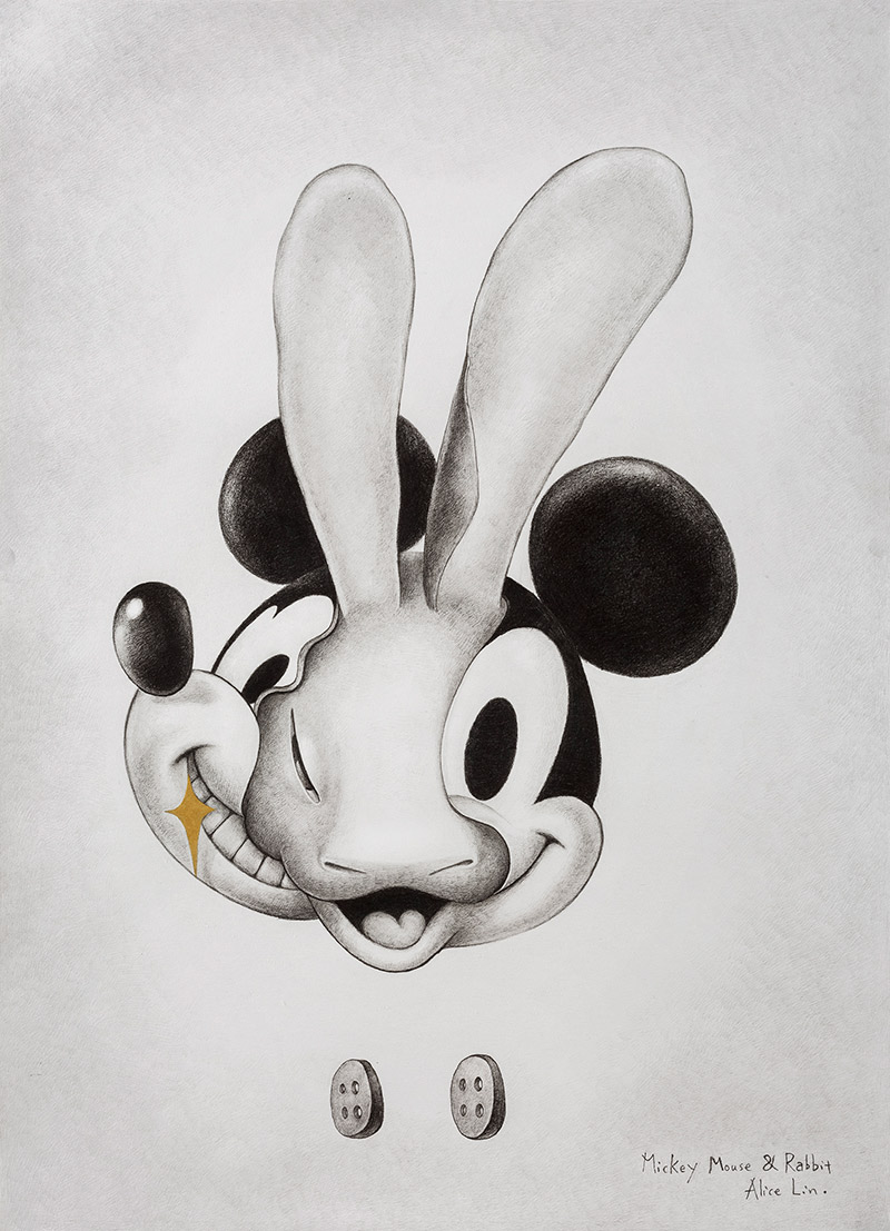 Alice Lin - Mickey Mouse and Rabbit #2