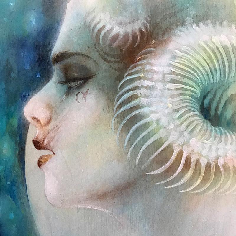 Lara Dann - Venus in Scorpio (Painting) - Detail