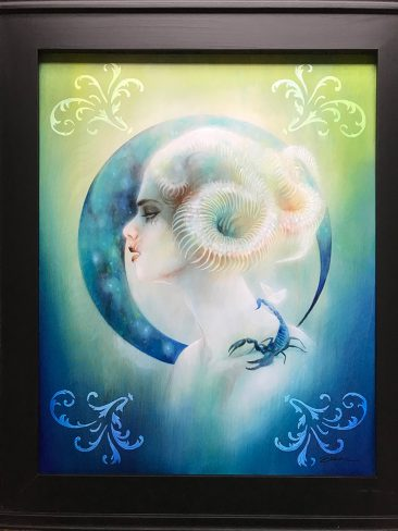 Lara Dann - Venus in Scorpio (Painting) - Framed