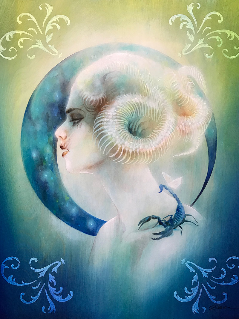 Lara Dann - Venus in Scorpio (Painting)