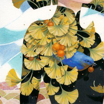Bao Pham - Gathering Ginkgos (Detail 2)