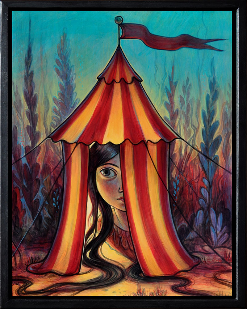 Kelly Vivanco - Mystery Tent (Framed)