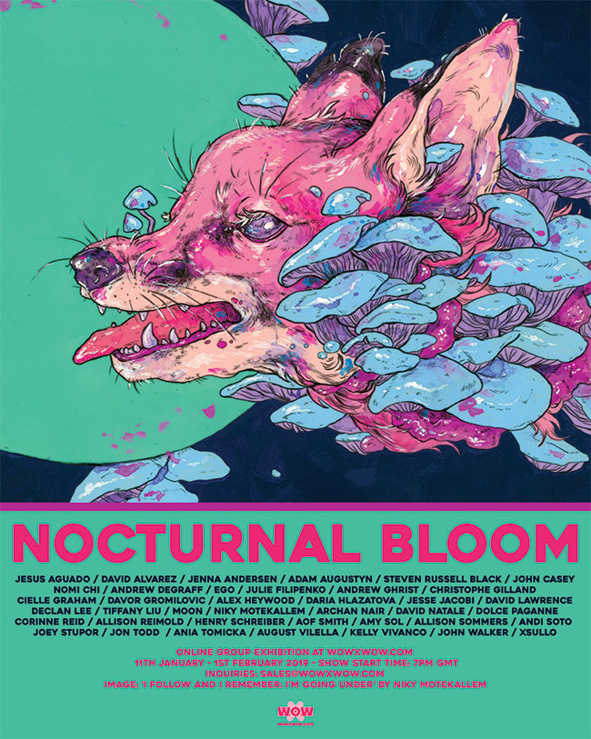 'Nocturnal Bloom' Exhibition – WOW x WOW Gallery – Announcement