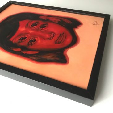 Alex Garant - Red Alert (Framed - Side)