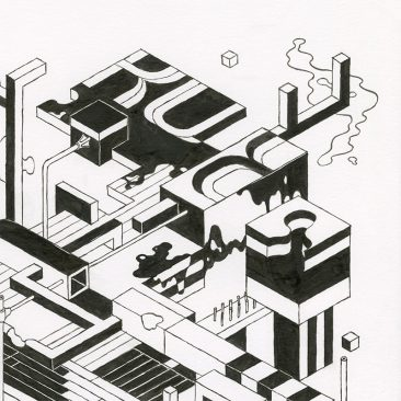 Andrew DeGraff - Unfinished Construction Site 25 (Detail 1)