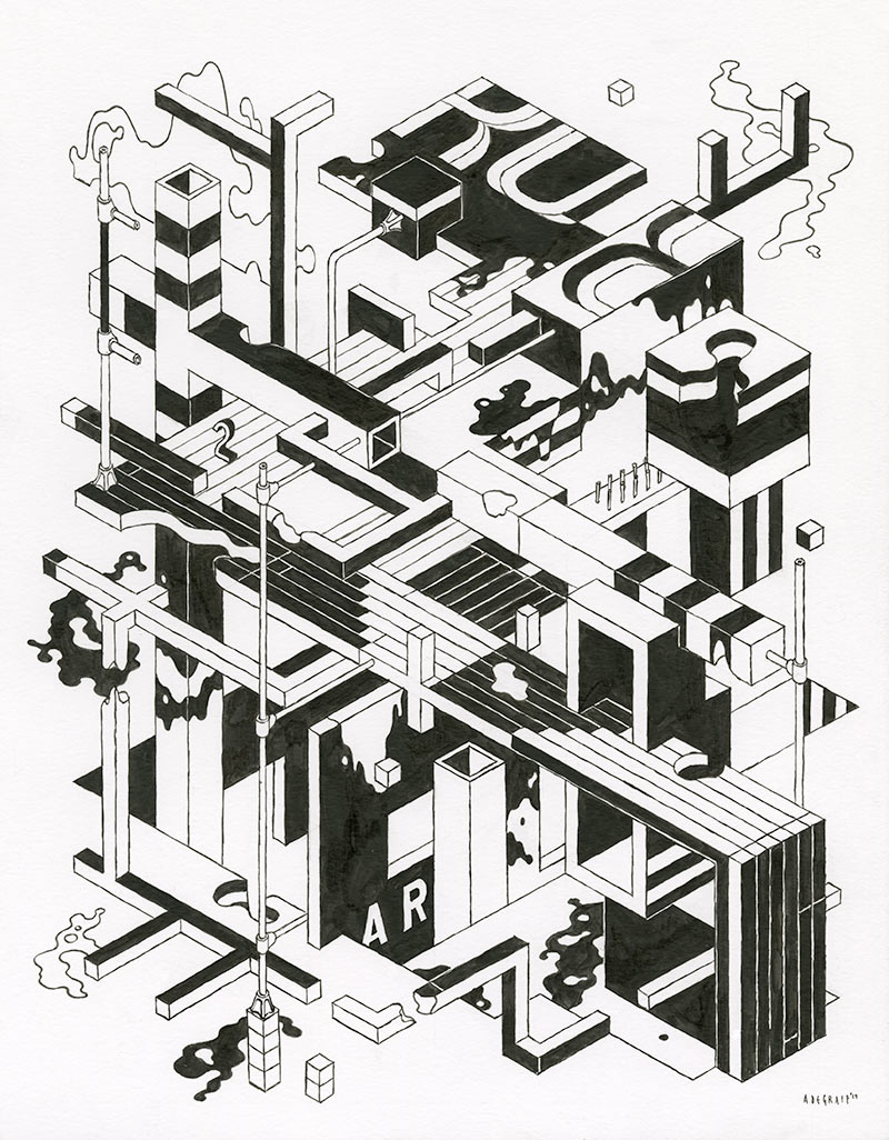 Andrew DeGraff - Unfinished Construction Site 25