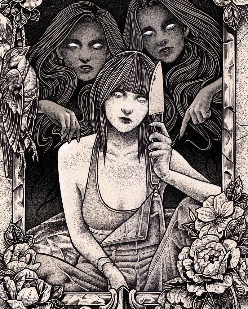 Daniel Bautista - The Ladies of the Mirror (Detail 1)