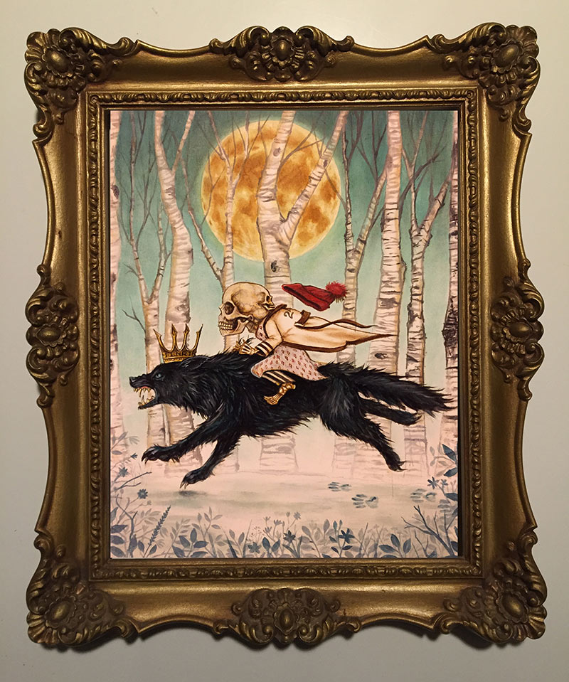 Joe Vollan - Young Mr. Mordrake Was Raised on Wolf's Milk (Framed)