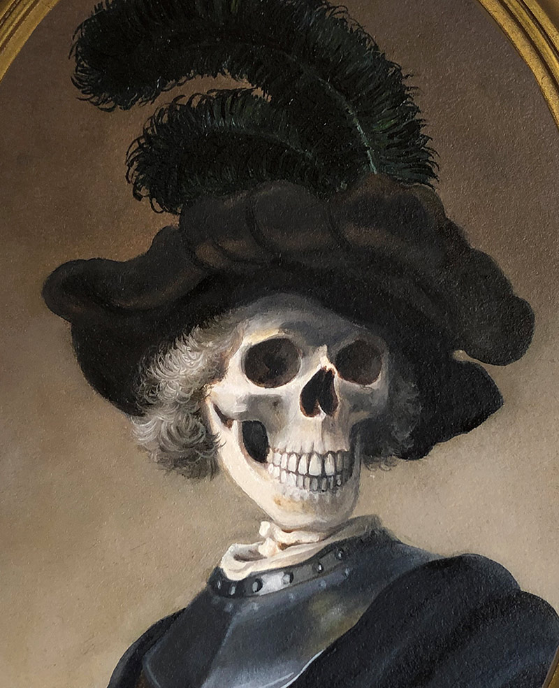 Michele Melcher - Man with Plumed Hat (Detail)
