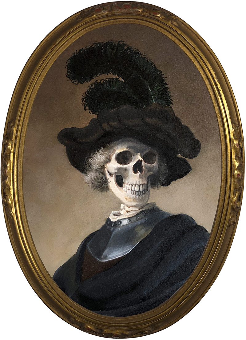 Michele Melcher - Man with Plumed Hat (Framed)