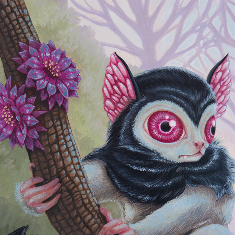 David Natale - Blood Eyed Lemur (Detail 1)