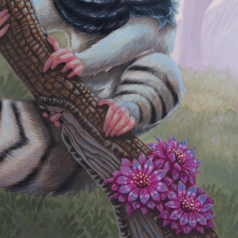 David Natale - Blood Eyed Lemur (Detail 2)