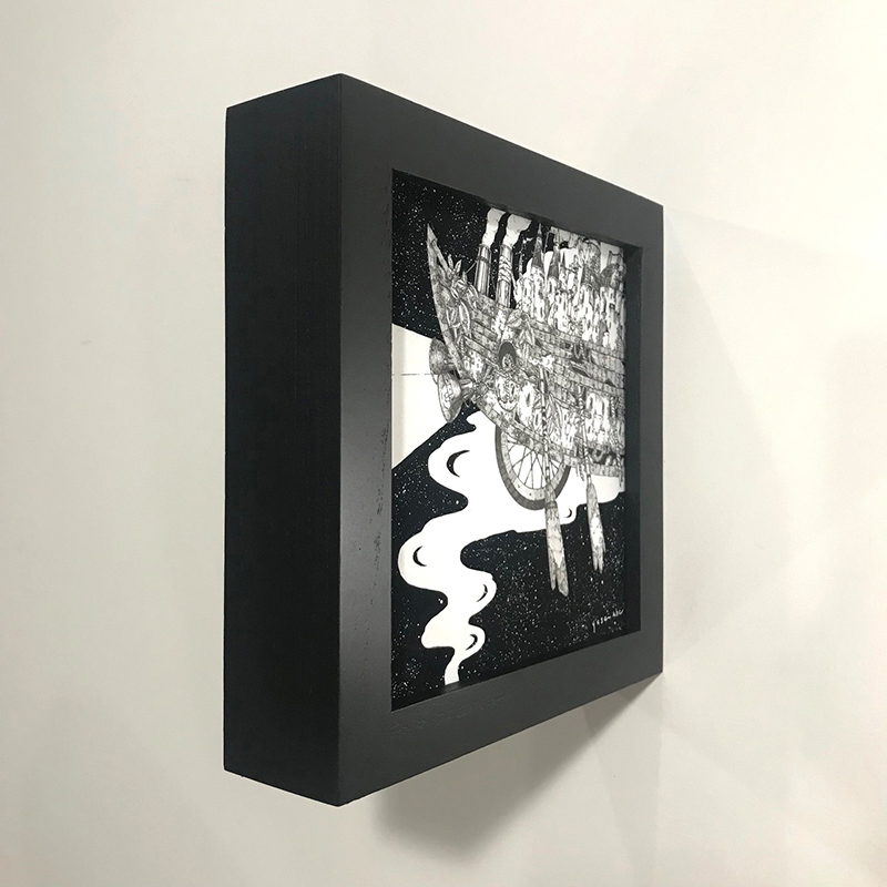 Yusei Abe - Intersteller Flight (Framed - Side)