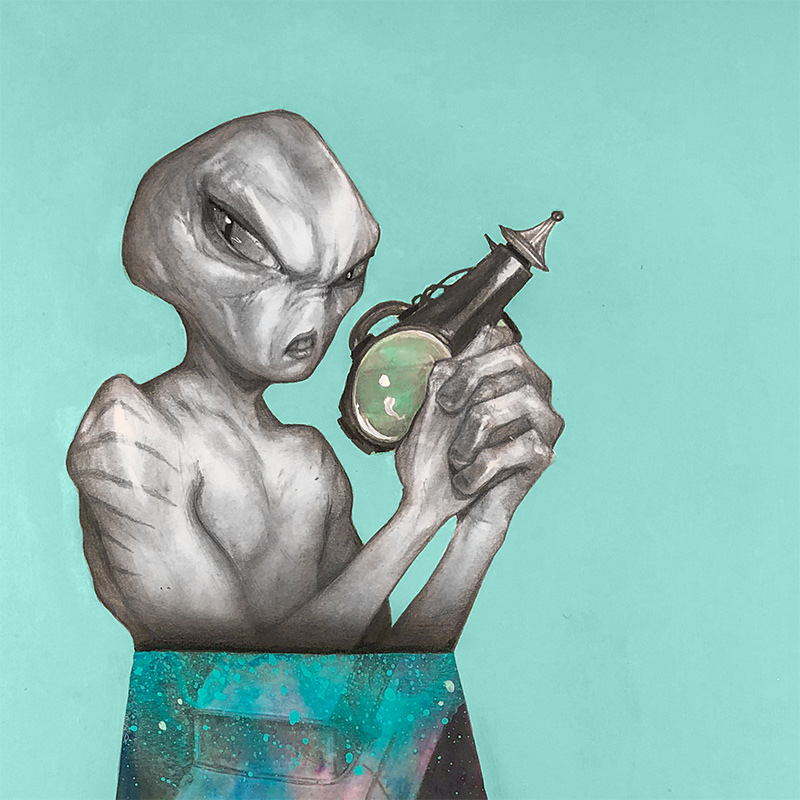 Matt Byle - Aliens, man (Detail 1)