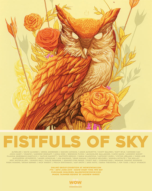 'Fistfuls of Sky' Exhibition – WOW x WOW Gallery – Announcement