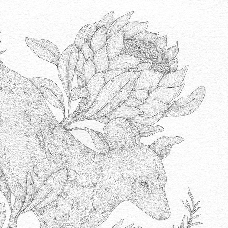 Jessica Roux - African Wild Dog (Detail 1)