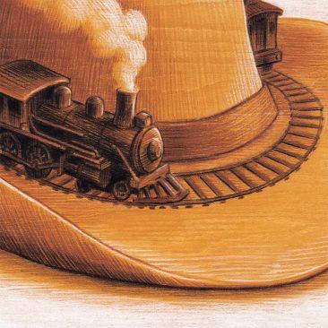 Brian Britigan - Western Pastiche No. 507 (Detail 2)