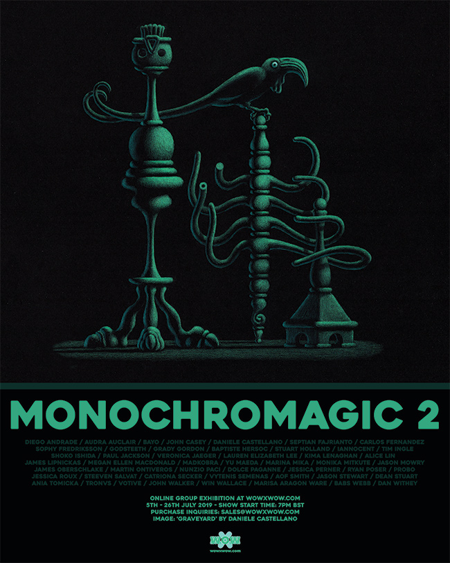 'Monochromagic 2' Exhibition – WOW x WOW Gallery – Announcement