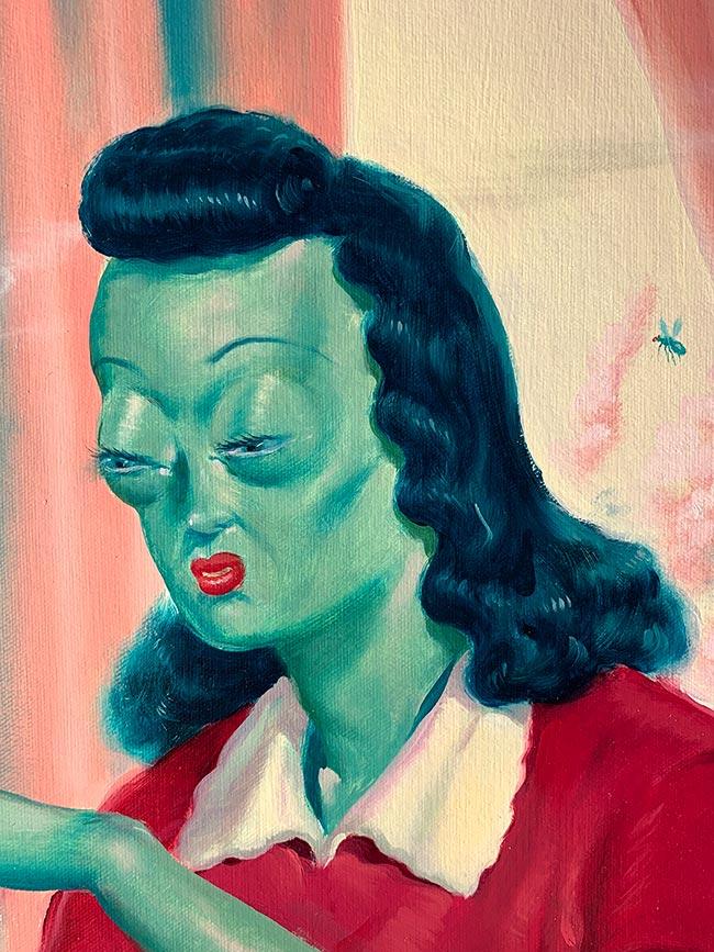 Ryan Heshka - Frog Wife (Detail 1)