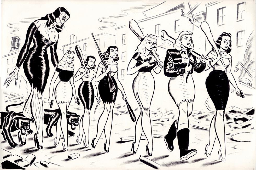 Ryan Heshka - Mean Girls Club Comic Art p92 and p93