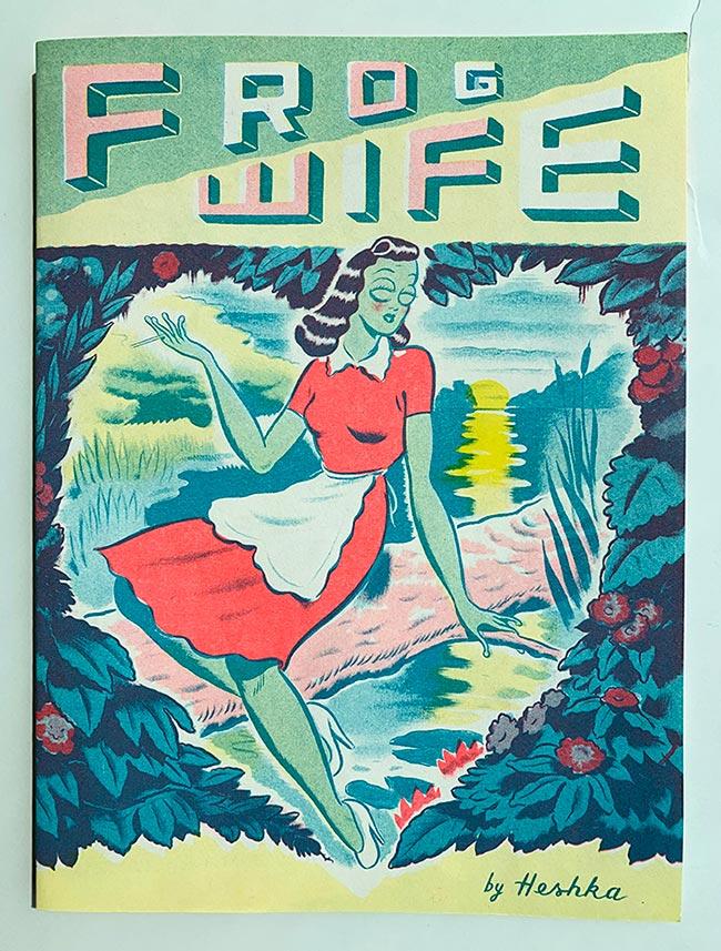 Ryan Heshka - Frog Wife (Comic Book Cover)