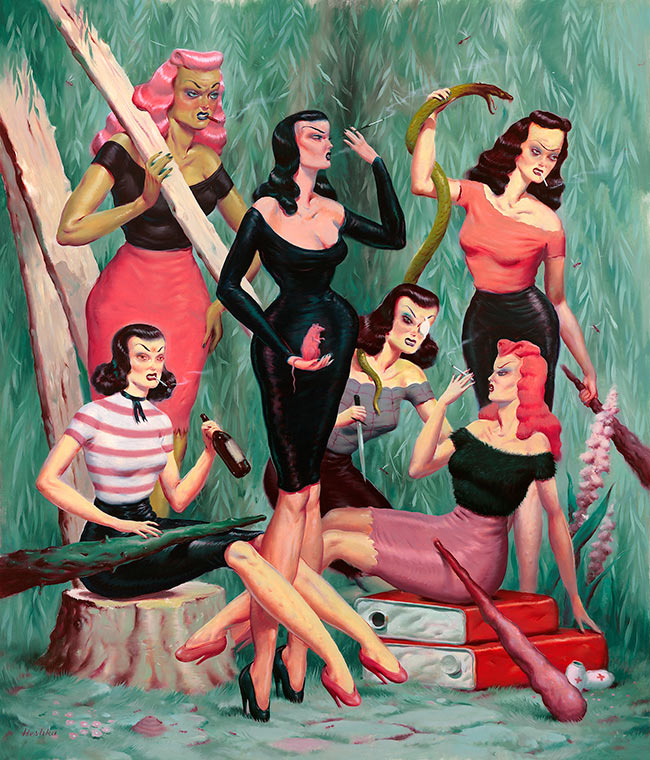 Ryan Heshka - Mean Girls Club
