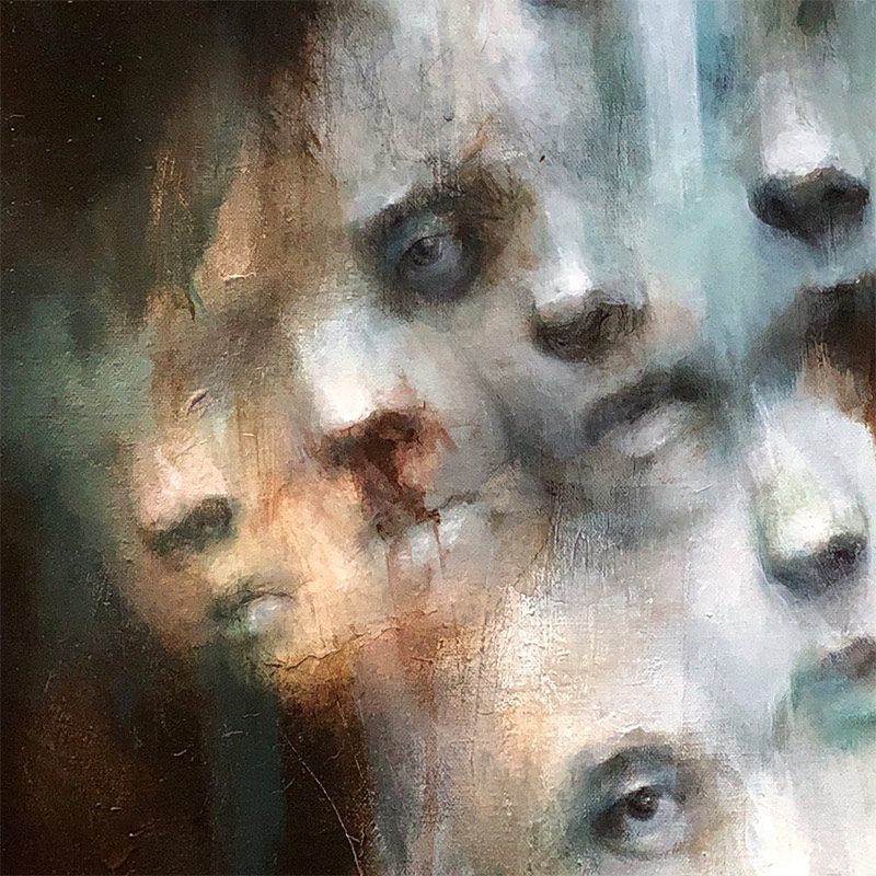 M. E. Tumulty - The Faces (Detail 2)
