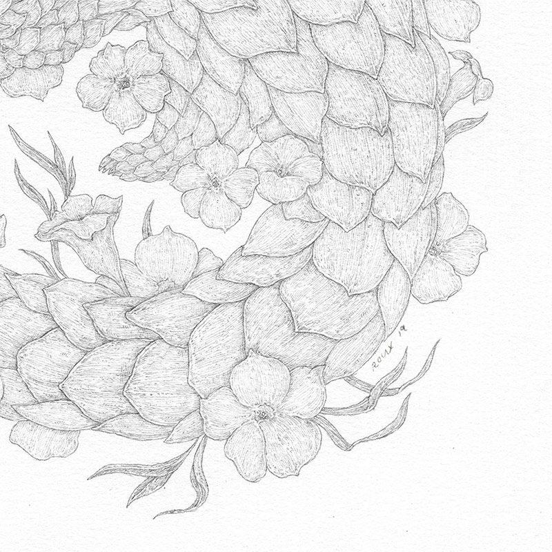 Jessica Roux - Pangolin (Detail 2)