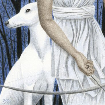 Julia Griffin - Artemis and Her Hounds (Detail 2)