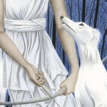 Julia Griffin - Artemis and Her Hounds (Detail 3)