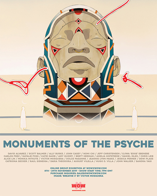 Monuments of the Psyche - Flyer - Victor Mosquera