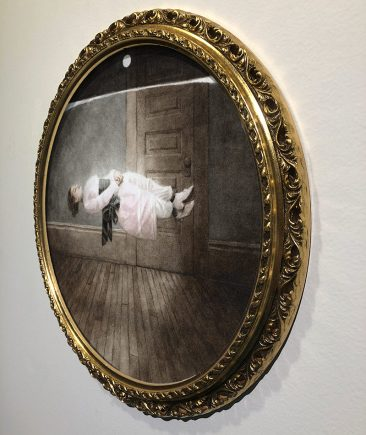 Benz and Chang - Floating Lady, 1891 (Framed - Side)