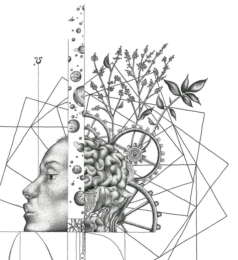 DantesDots - The Shape of Gravity (Detail 1)