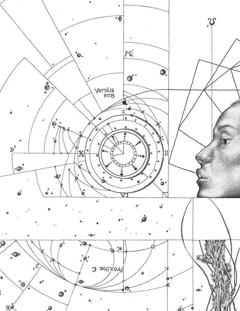 DantesDots - The Shape of Gravity (Detail 2)