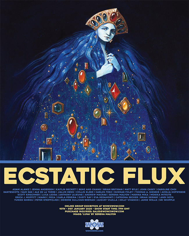 Ecstatic Flux - Flyer (Serena Malyon)