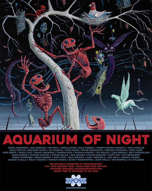 Aquarium of Night - Flyer - Joe Vaux