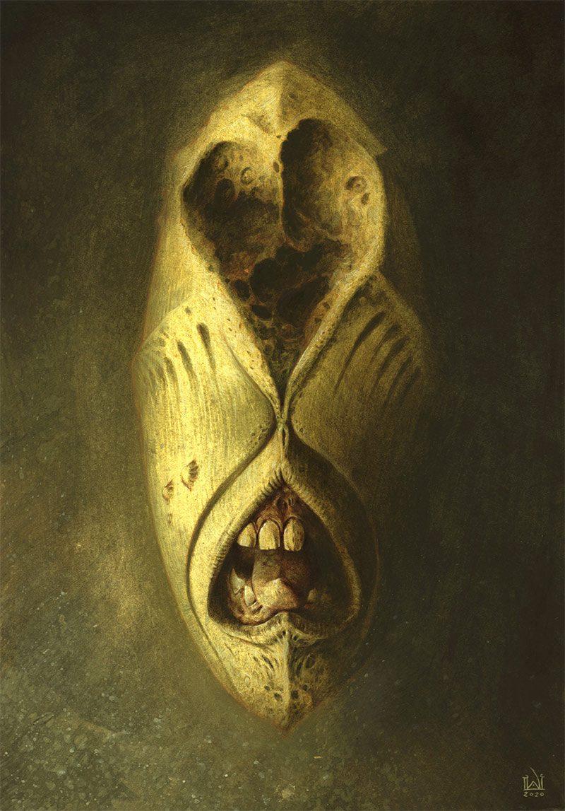 David Michael Wright - Dark Visages No 7