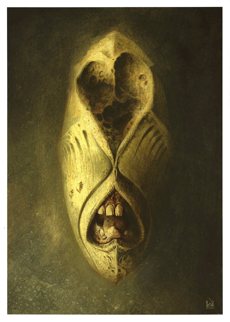David Michael Wright - Dark Visages No 7 (Border)