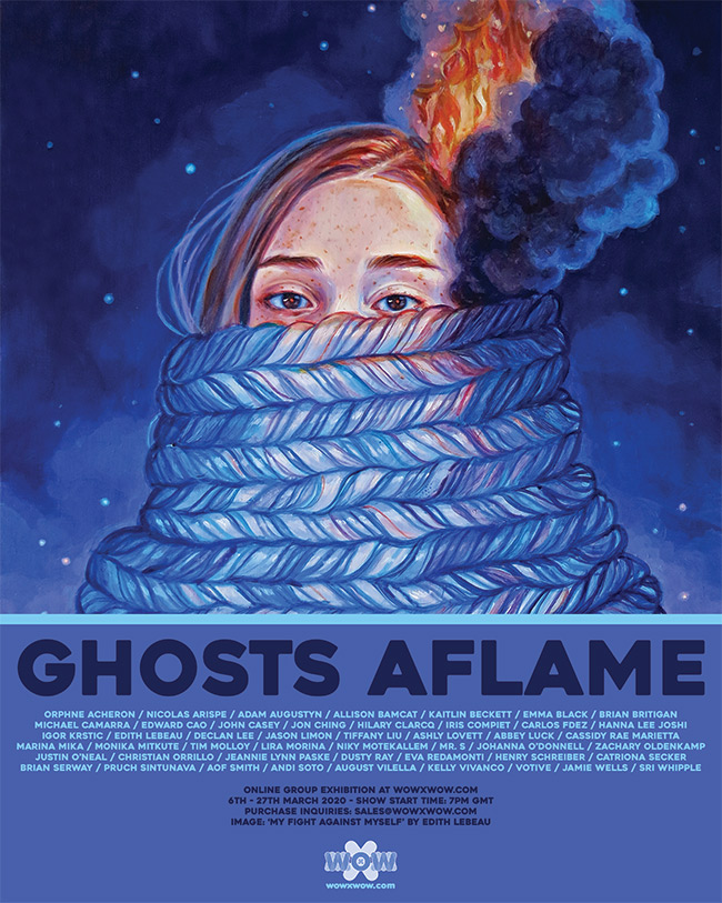 Ghosts Aflame - Flyer
