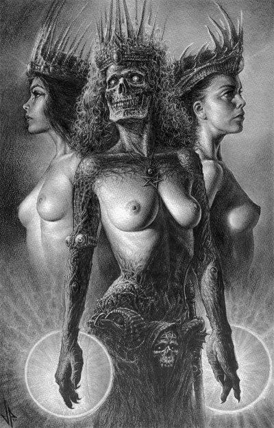 John Kelly Pevahouse - drei Hexen