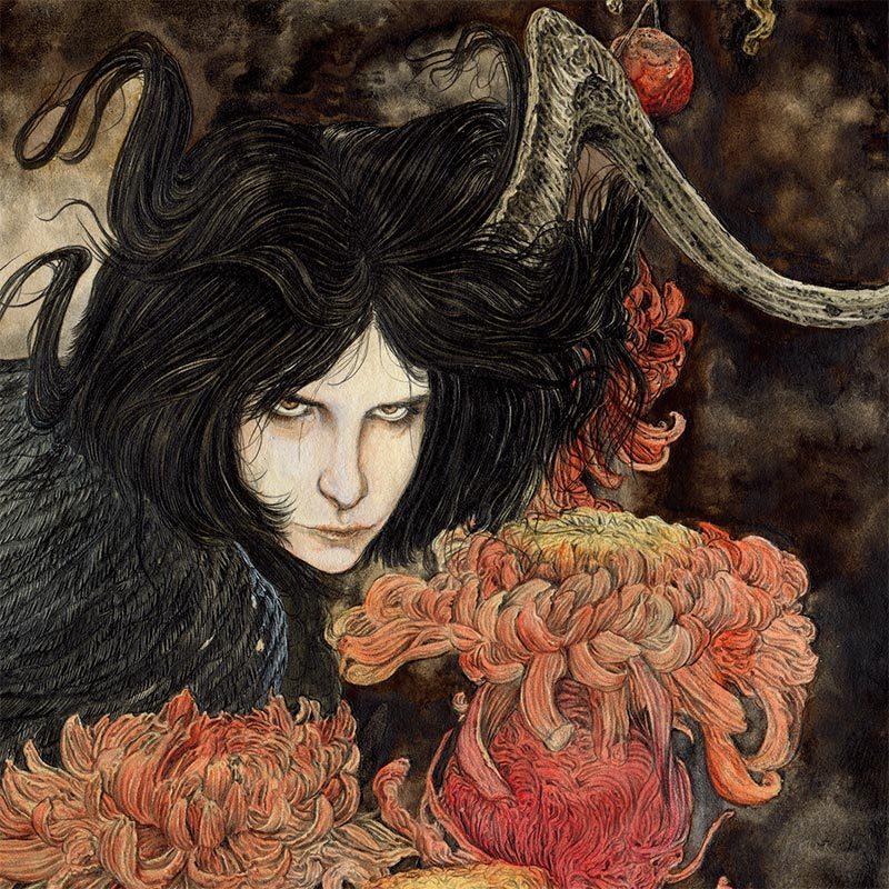 Zakuro Aoyama - A Rotten Pome and a Bird (Detail 1)
