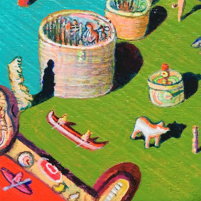 Andrew Abbott - Natalias Pottery Canoe Plant (Detail 1)