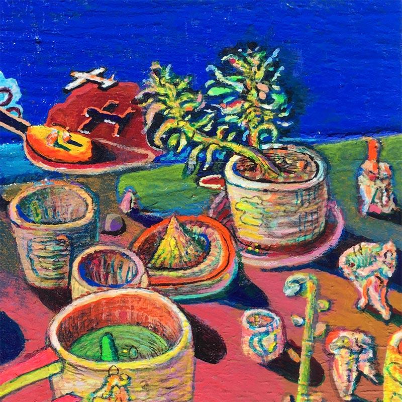 Andrew Abbott - Natalias Pottery Dyson Plant Sunset (Detail 1)