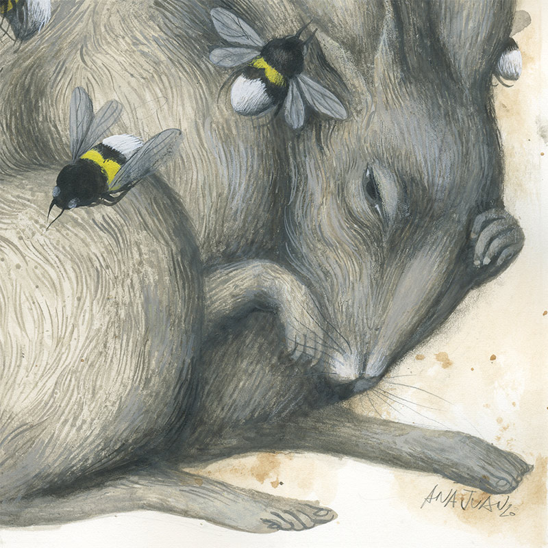 Ana Juan - David vs. Goliath I (Rabbit) Detail 2