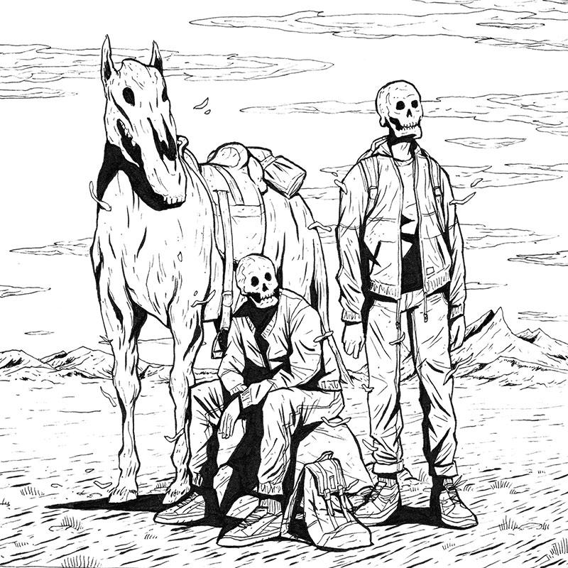 Ben Bauchau - A Break During the Journey (Original)